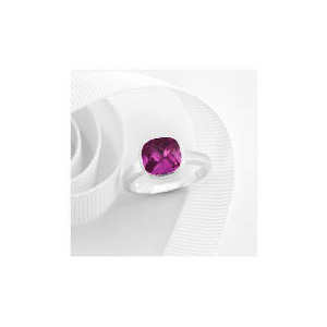 Photo of Sterling Silver Pink Cubic Zirconia Ring, Large Jewellery Woman
