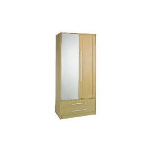 Photo of Brisbane 2 Door (1 Mirror) 2 Drawer Robe, Maple Furniture