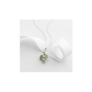 Photo of Sterling Silver Green Aventurine and Peridot Pendant Jewellery Woman