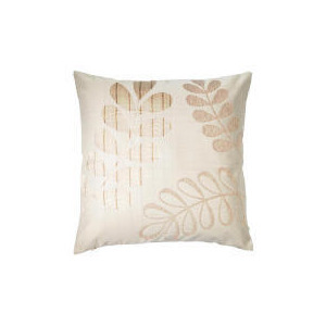 Photo of Tesco Jacquard Leaf Cushion , Natural Cushions and Throw