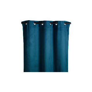 Photo of Tesco Faux Suede Unlined Eyelet Curtain, Teal 117X183CM Curtain