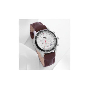 Photo of Jeep White Dial Chrono With Brown Strap,Tachymeter 200M Watches Man