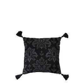 Tesco Damask Chenille Tassel Cushion , Black Reviews