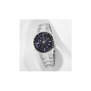Photo of Accurist Mens Black Dial Chrono With Tachymeter Silve Bracelet Watches Man