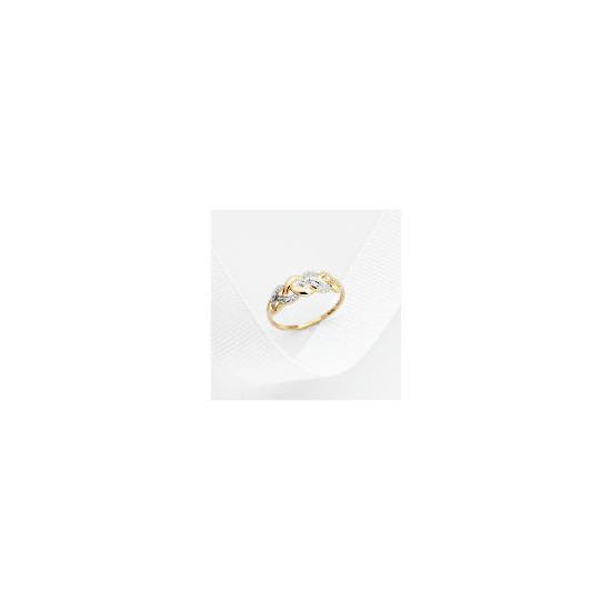 9ct Gold Diamond Ring L