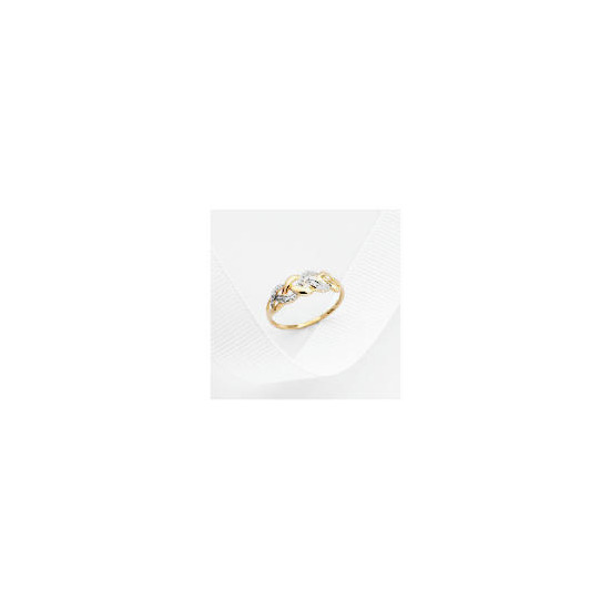 9ct Gold Diamond Ring L