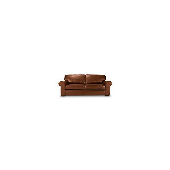 York Large Leather Sofa, Cognac