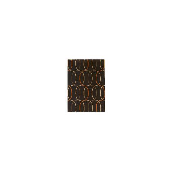 Tesco Circles Geometric Rug, Cinnamon 120x170cm