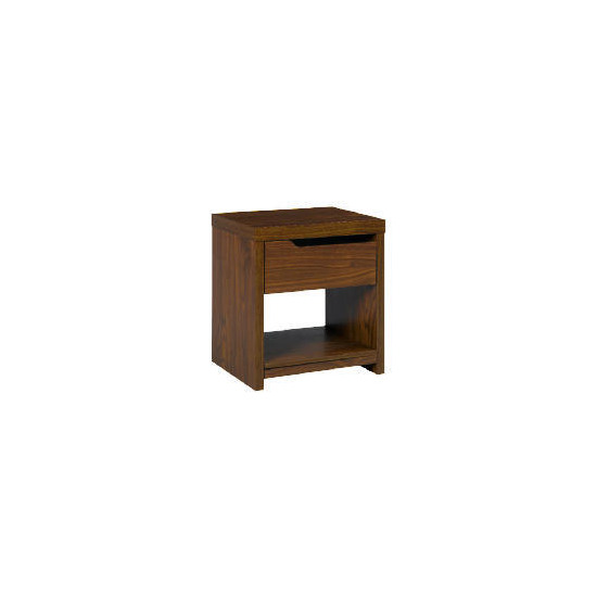 Seattle 1 Drawer Side Table Walnut Effect