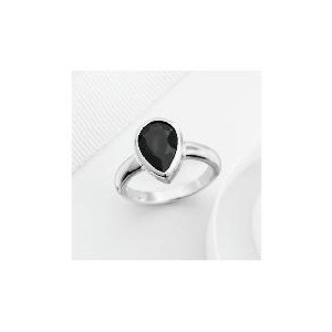 Photo of Sterling Silver Black Cubic Zirconia Ring, Small Jewellery Woman