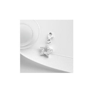 Photo of Sterling Silver Cubic Zirconia Star Charm Jewellery Woman