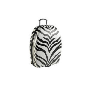 Photo of Constellation Zebra Print Medium Trolley Case BLK / WHT Luggage