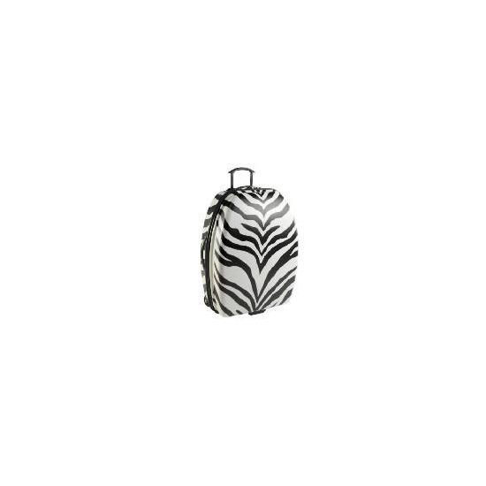 Constellation Zebra print Medium Trolley Case Blk / wht