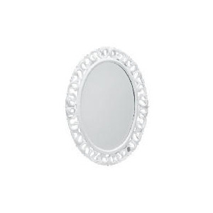 Photo of Florentine Oval Distressed White 79X59CM Home Miscellaneou
