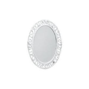 Photo of Florentine Oval Distressed White 79X59CM Home Miscellaneou
