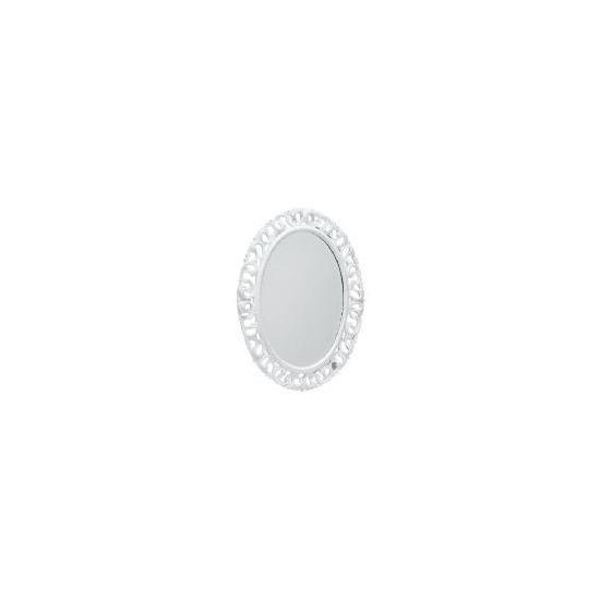 Florentine Oval Distressed White 79X59cm