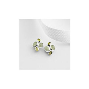 Photo of Sterling Silver Green Aventurine and Peridot Earrings Jewellery Woman