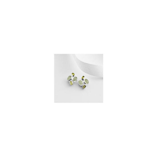 Sterling Silver Green Aventurine and Peridot Earrings