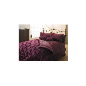 Photo of Tesco Satin Flock Damask Single Duvet Set, Plum Bed Linen