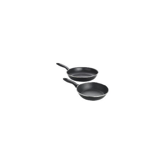 Swan 2 pack frypans Black 21cm and 27cm