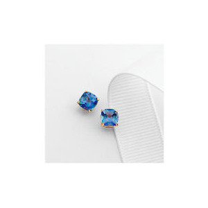 Photo of 9CT Gold Blue Mystic Topaz Studs Jewellery Woman