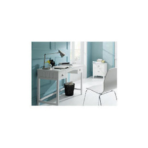 Photo of Connecticut 2 Drawer Desk, White Furniture