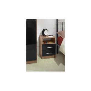 Photo of Eclipse 2 Drawer Bedside Table, Black Furniture
