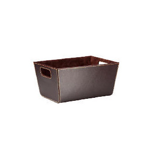 Photo of Tesco Faux Leather Shelf Basket Bin