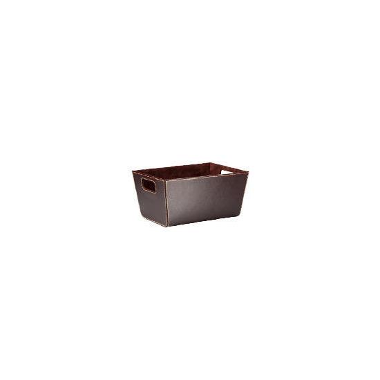 Tesco faux leather shelf basket