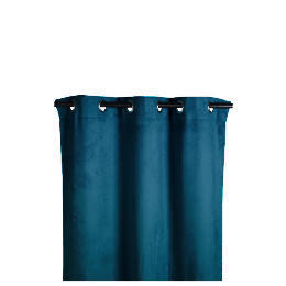 Tesco Faux Suede Unlined Eyelet Curtain, Teal 168x137cm Reviews