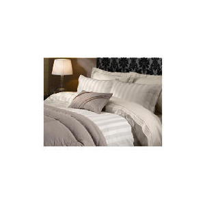 Photo of Hotel 5* Duvet Satin Stripe Set Super King Beige Bed Linen