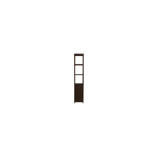 chunky Dark wood Tower storage unit