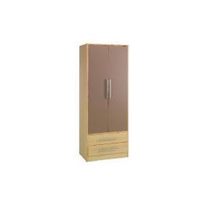 Photo of Shake 2 Door 2 Drawer Wardrobe, Chocolate Furniture