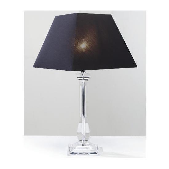 Tesco 5* Hotel Tesco Clear Column Table Lamp
