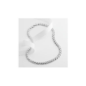 Photo of Adrain Buckley Silver Tone Crystal Necklace Jewellery Woman