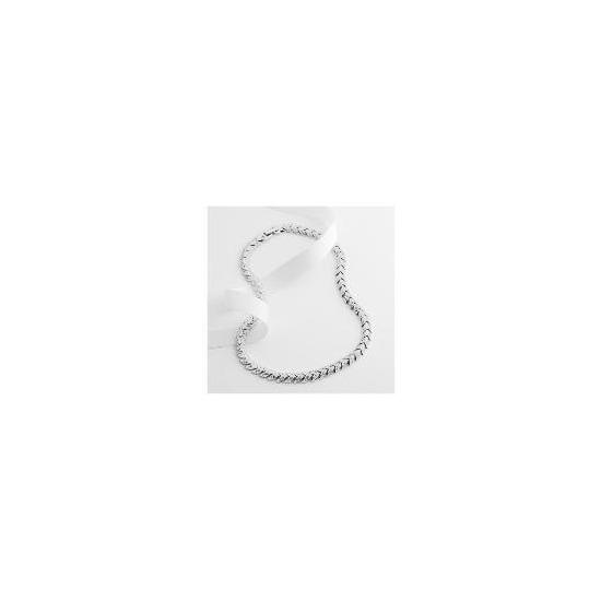 Adrain Buckley Silver Tone Crystal Necklace