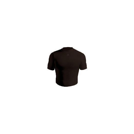 Short Sleeve Bodyshirt Crew Neck (BLACK adult Xlarge)