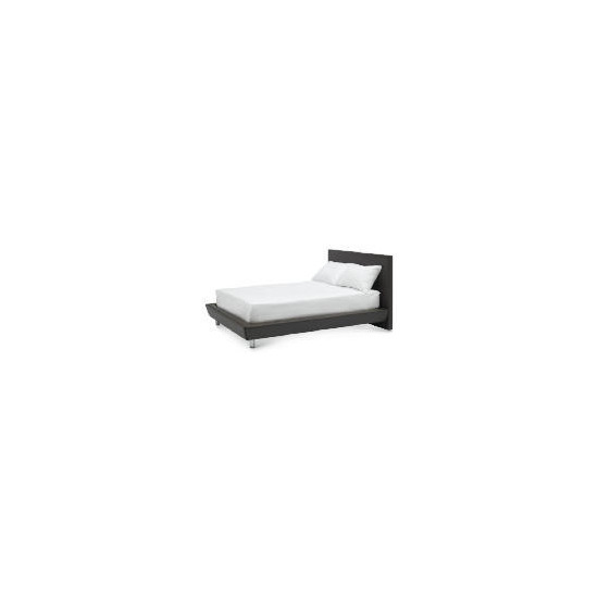 Trento PVC Double Bed, Brown