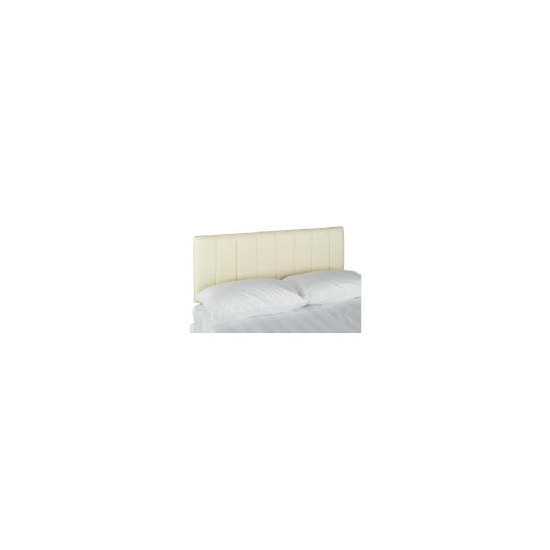 Haddon Faux Leather Double Headboard, Cream