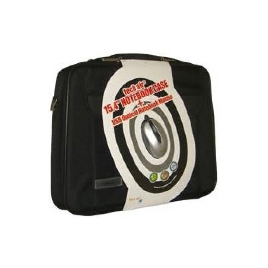 "Techair 15.4"" Laptop Bag & Wireless Mouse"