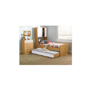 Photo of Shake Single Trundle Bed, White Bedding