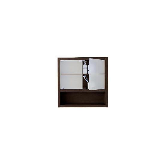 Chunky Dark wood Double Wall Cabinet
