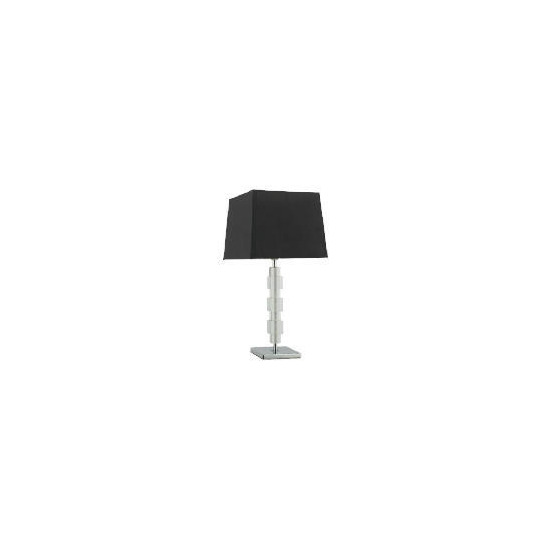 Tesco Block Table Lamp With Black Silk Effect Shade