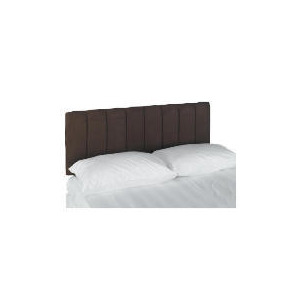 Photo of Haddon Faux Suede King Headboard, Cocoa Bedding