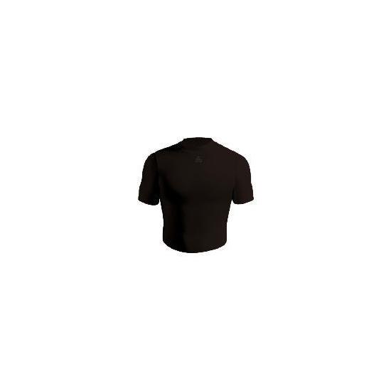 Short Sleeve Bodyshirt Crew Neck (BLACK adult medium)