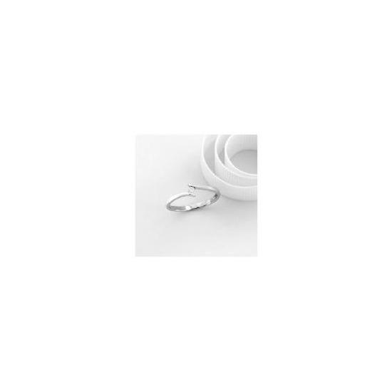 9ct White Gold Diamond Ring N