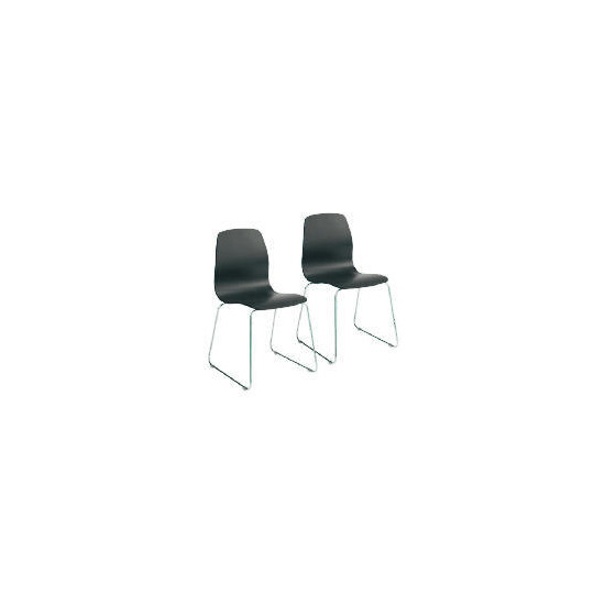 Pair of Whistler Dining Chairs, Black