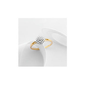 Photo of 9CT Gold 1/4 Carat Diamond Cluster Ring m Jewellery Woman