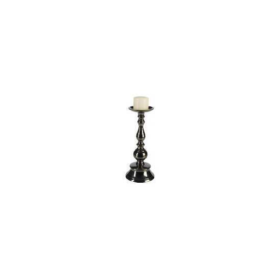 Tesco Blackened Nickle Candle Stick 30cm