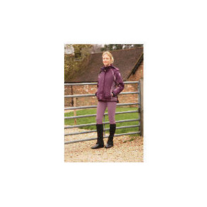 Photo of Ladies Lightweight Waterproof Quilted Purple Riding Jacket Size 10 Sports and Health Equipment